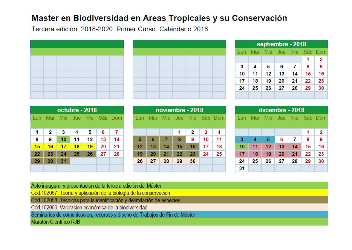 Calendario Segunda Edición del Máster 2017-2018 pdf